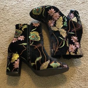 Embellished booties size 8.5
